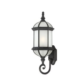 Nuvo Lighting 60/4993 Boxwood ES Single-Light Wall Lantern with Frosted Glass Panels
