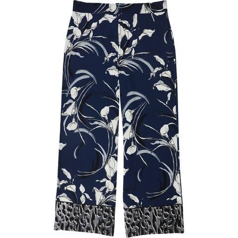 Alfani Womens Palazzo Casual Wide Leg Pants, Blue, Medium