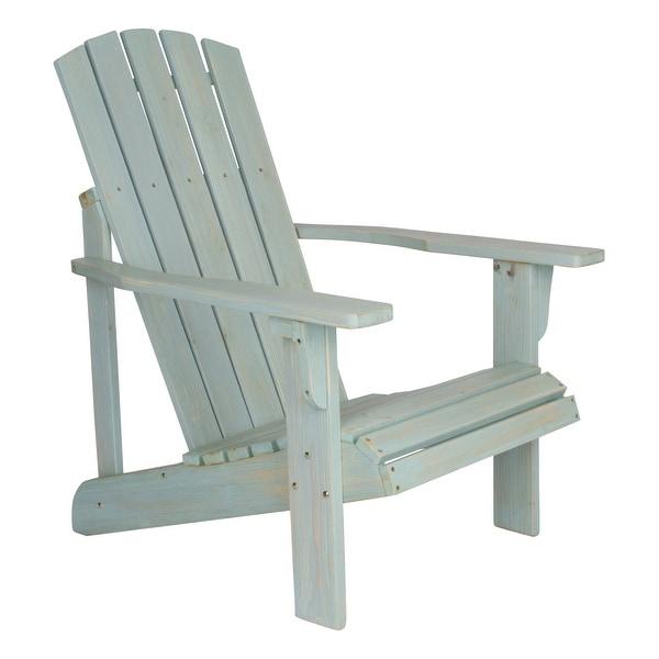 Shine 5616DB Lakewood Rustic Adirondack Chair, Dutch Blue