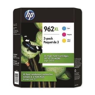 HP 962XL High Yield Colors 3 Pack Cyan Magenta Yellow Ink Cartridges 3JB36BN - black