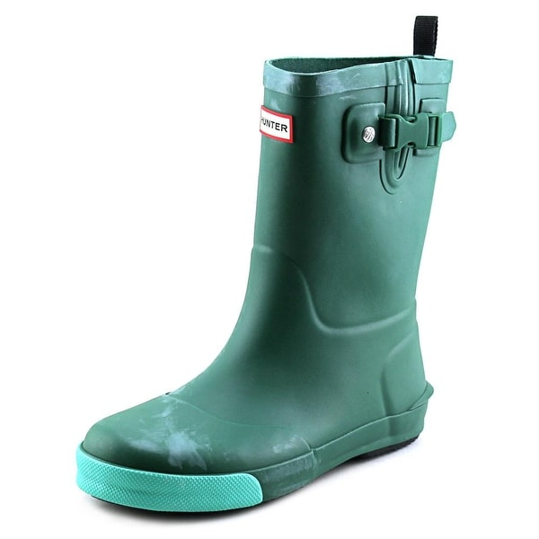 Hunter Original Kids Youth Round Toe Synthetic Green Rain Boot