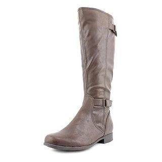 Hush Puppies Motive_16Bt Women Round Toe Synthetic Brown Knee High Boot