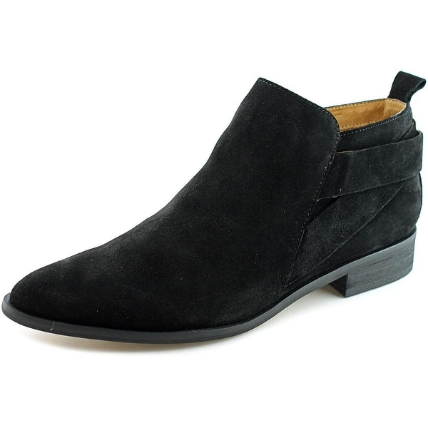Corso Como Dwight Women Pointed Toe Suede Black Ankle Boot