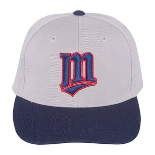 MLB Minnesota Twins Sports Specialties Adjustable Hook and Loop Closure Classic Hat -Grey