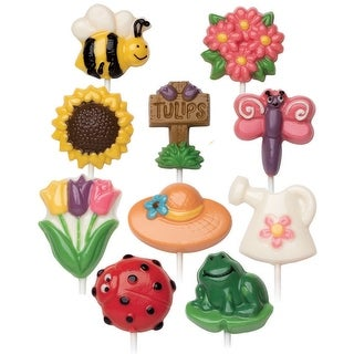 Candy Mold-Bugs & Garden 10 Cavity (10 Designs)