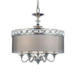 Eurofase Lighting 20297 Bijoux 9 Light Pendant with Drum Shade and Crystal Accents