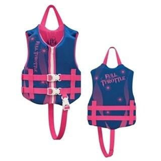 Full Throttle Rapid - Dry Life Vest - Child, Blue & Pink