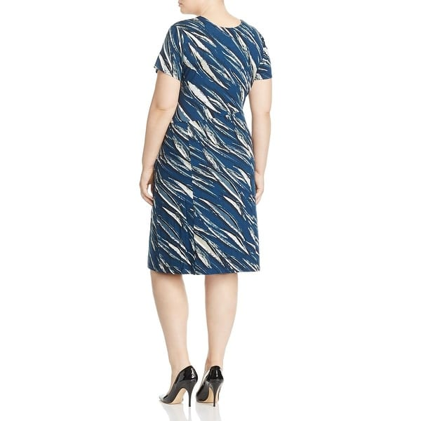 Shop Nic Zoe Womens Plus Tiger Lily Wear To Work Dress Tie Front