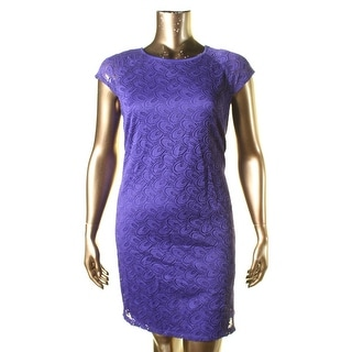 Ronni Nicole Womens Lace Cap Sleeves Cocktail Dress
