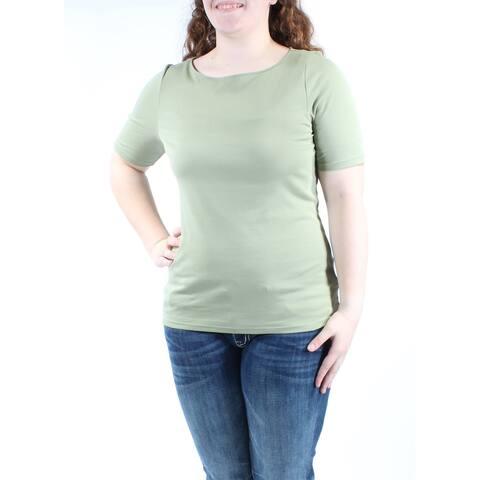 RALPH LAUREN Womens Green Short Sleeve Jewel Neck Top Size XL