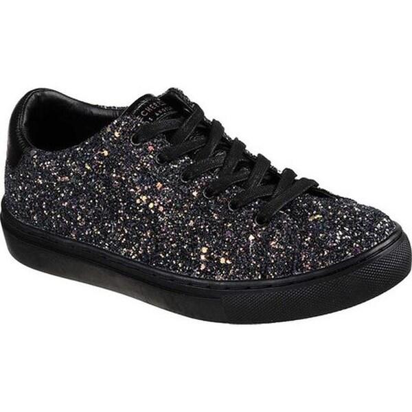 a13fd2f9a57e Shop Skechers Women s Side Street Awesome Sauce Sneaker Black Black ...