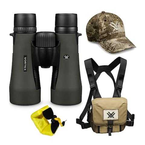 """Vortex 12x50 Diamondback HD Roof Prism Binoculars w/ Strap & Hat - 6.6"""" x 5.3"""""""