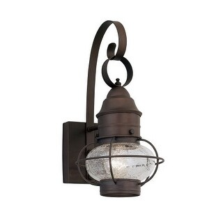 "Designers Fountain 1751-RT 1 Light Outdoor 7"" Onion Wall Lantern from the Nantucket Collection"