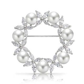 Bling Jewelry White Imitation Pearl Marquise CZ Wreath Brooch Pin Rhodium Plated|https://ak1.ostkcdn.com/images/products/is/images/direct/6f8c54186d31ce1af7c6b28423ca17b2d812fa7b/Bling-Jewelry-White-Imitation-Pearl-Marquise-CZ-Wreath-Brooch-Pin-Rhodium-Plated.jpg?impolicy=medium