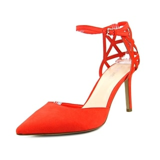 Nine West See U Soon Women Pointed Toe Canvas Orange Heels