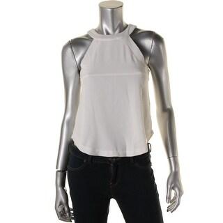 JOA Womens Sleeveless Solid Halter Top - XS