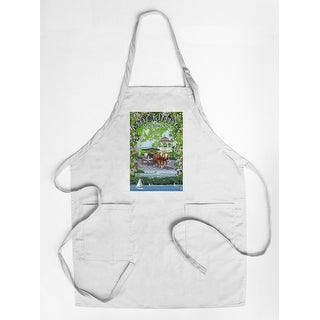 Mackinac, Michigan - Montage Scenes - Lantern Press Artwork (Cotton/Polyester Chef's Apron)