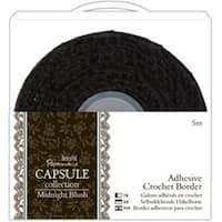 "Papermania Midnight Blush Adhesive Crochet Border .5""X5m-"