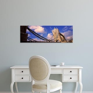 Easy Art Prints Panoramic Images's 'Low angle view of a bridge, Tower Bridge, London, England' Premium Canvas Art