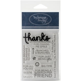 """Technique Tuesday Clear Stamps 3""""X4""""-Say It -Thanks"""