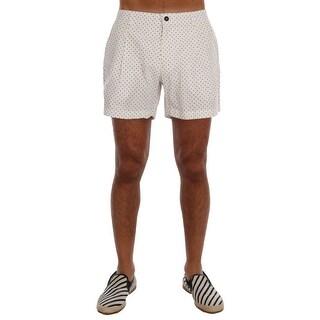 Dolce & Gabbana Dolce & Gabbana White Polka Dot Beachwear Shorts