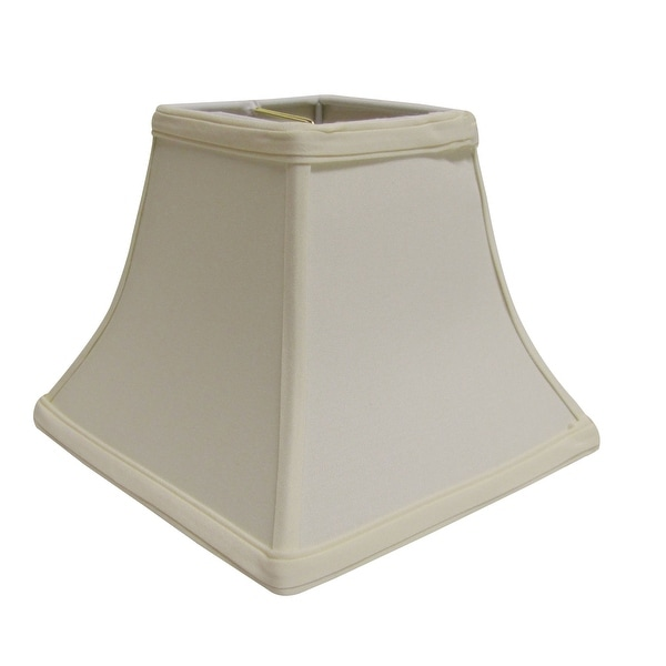Cloth & Wire Slant Square Bell Hardback Lampshade with Washer Fitter, Egg. Opens flyout.