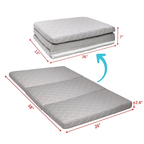 NewAge Trifold Pack Portable Foldable Baby Play Mattress Pad for Play Crib