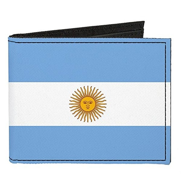 Buckle-Down Canvas Bi-fold Wallet - Argentina Flag Accessory