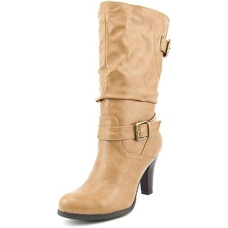 Style & Co Amorie Women Round Toe Synthetic Tan Mid Calf Boot