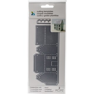 Momenta Die Cutting Templates-Tall Mini House, 2 Pcs