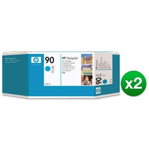 HP 90 400-ml Cyan DesignJet Ink Cartridge (C5061A) (2-Pack)