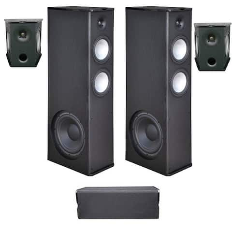 Premier Acoustic 5.0 Home Theater System Bundle with 2 PA-8.12 Tower Speakers, 2 PA-8S Surrounds, and 1 PA-8C Center Channel Spe