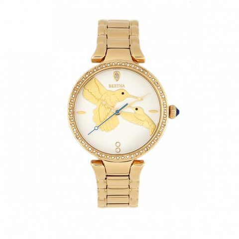 Bertha Nora Bracelet Watch - White/Gold