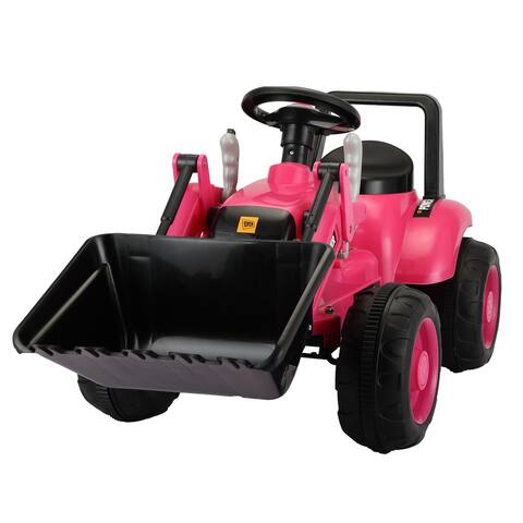 6V Kids Ride On Car Tractor Battery Powered Digger w/ Horn Digging - 8' x 11'