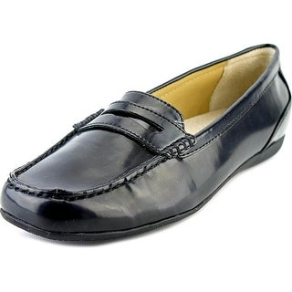 Trotters Francie Women N/S Moc Toe Synthetic Black Loafer