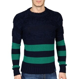 Diesel Mens Kapua Wool Blend Crewneck Sweater X-Large XL Navy, Retail