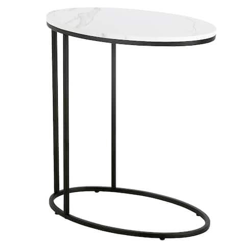 Enzo Side Table with Faux Marble Top