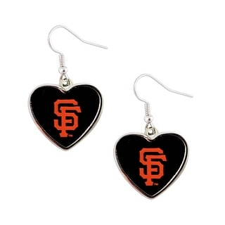 MLB SAN Francisco Giants Heart Shape Dangle Logo Earring Set Charm Gift(Not Swirl)