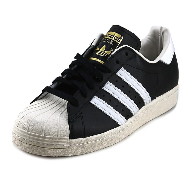 Adidas Superstar 80's Men Round Toe Leather Black Sneakers