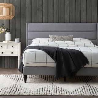 Link to Brookside Sara Upholstered Bed with Horizontal Channels Similar Items in Bedroom Furniture
