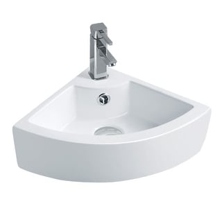 Triangular Vessel Sink Small White Grade A Vitreous China Scratch and Stain Resistant Easy Clean