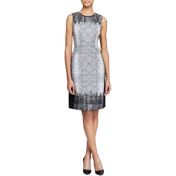 Shop Elie Tahari Womens Holly Wear To Work Dress Linen