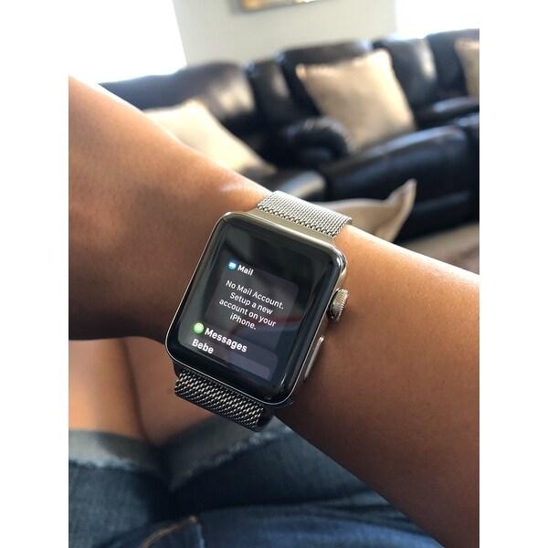 Shop Apple Watch Series 2 38mm Smartwatch Stainless Steel Case