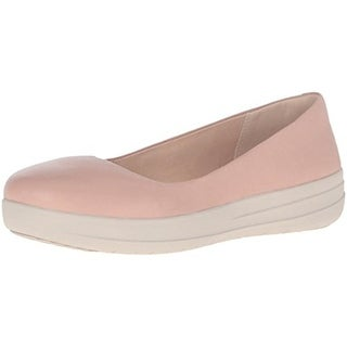 Fitflop Womens Ballerinas Round-Toe Shoes Leather Anatomic Comfort - 8.5 medium (b,m)