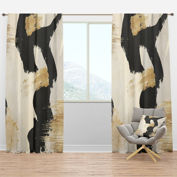 Designart 'Glam Collage II' Modern & Contemporary Curtain Panel. Opens flyout.