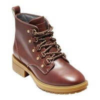 Cole Haan Women's Briana Grand Lace Up Hiker Boot Woodbury Waterproof Leather/Dark Gum