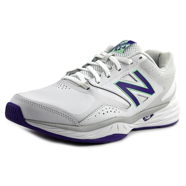 New Balance WX824 2E Round Toe Leather Sneakers