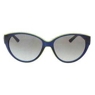 DKNY DY4120 365911 Navy/Lime Oval Sunglasses - 57-16-140