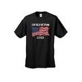 Men's T-Shirt USA Flag Pride American Dad Stars & Stripes Patriotic Father Papa Tee - Thumbnail 3