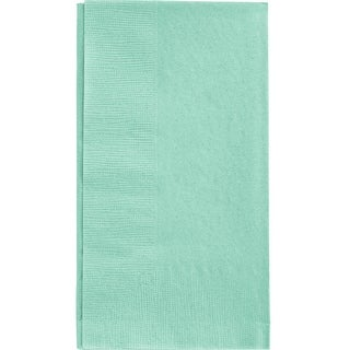 "Club Pack of 600 Fresh Mint Green 2-Ply Disposable 1/8-Fold Paper Dinner Napkins 4"" x 8.5"""